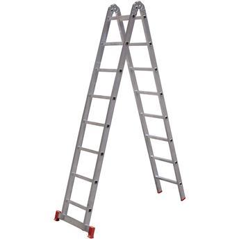 Escada de Alumínio Multifuncional 2x8 16 Degraus Esc0579 Botafogo