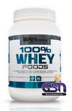 100% Whey Foods 900g Morango Br Nutrition Foods