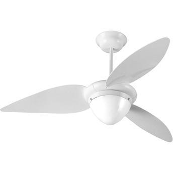 Ventilador de Teto 3 Pás Aliseu Jet Com Luminária Branco 107cm - 110v