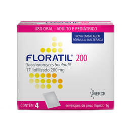 Floratil 200mg Po Oral 4 Sach X 1g - Saccharomyces Boulardii - Merck