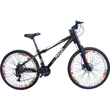 Bicicleta Mazza Reba Disc M Aro 26 Susp. Dianteira 21 Marchas - Prata/preto