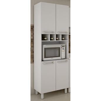 Armário para Cozinha Paneleiro Com Nicho 4 Portas Valdemóveis