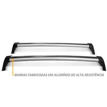 Rack Bagageiro Cruze Sedan em Alumínio Prata Projecar C-349
