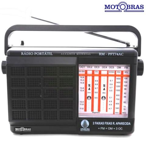 Rádio Portátil Com Rádio Am/fm Motobras 1 W Rms - Rmpft74ac