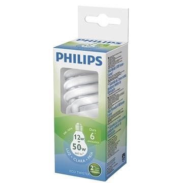 Lâmpada Philips Eco Twister Espiral 12w 6500k 220v - Plw12w220twislu
