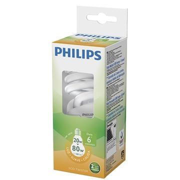 Lâmpada Philips Eco Twister Espiral 20w 2700v 220v - Plwtwist20w220bl