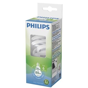 Lâmpada Philips Eco Twister Espiral 20w 6500k 220v - Pldtwist20w220bl