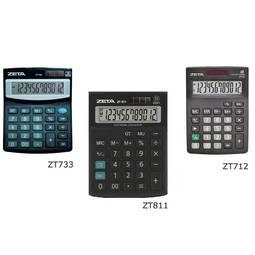 Calculadora de Mesa 12 Dígitos Preta Zt811 Zeta