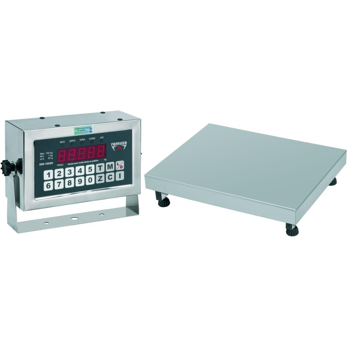 de Aço Inox 304 Ramuza Capacidade de 50kg Base de 30x30cm Idr de Abs #72163C 1200x1200 Balança De Banheiro Em Aço Inox