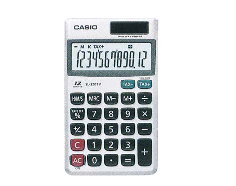 Calculadora de Bolso Prata Sl320tv Casio