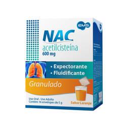 Nac 600mg Gran 16 Env X 5g - Acetilcisteina - Sigma Pharma