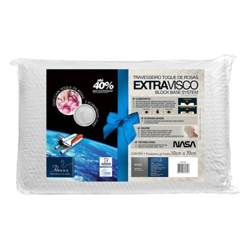 Travesseiro Fibrasca Extravisco 100% Poliester 100% Poliuretano 50x70cm