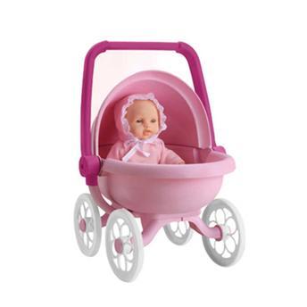 Boneca Mania Carrinho de Bebê 5359 Roma Brinquedos