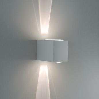 Arandela Bella Luce Externa C/ Lente e Vidro Branco Fosco - Bl8046