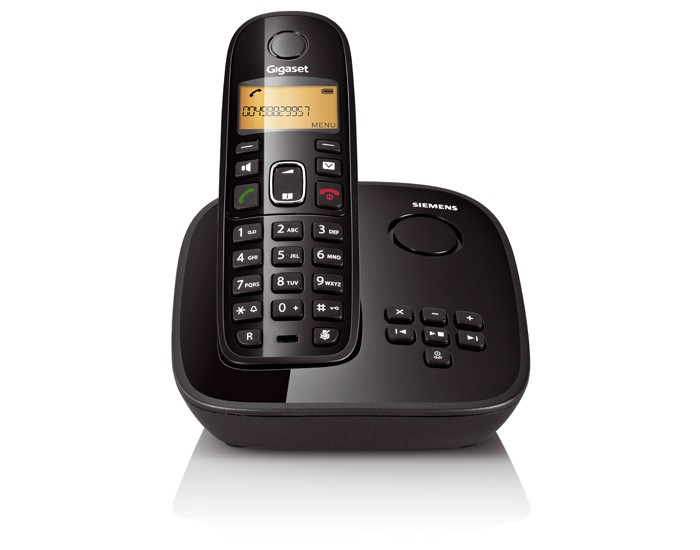 Telefone Sem Fio Siemens Gigaset A495 Com Id Preto