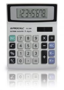 Calculadora de Mesa Simples Cinza Pc086 Procalc