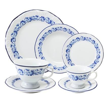 Aparelho de Jantar , Chá e Café Edite Branco 42 Peças - Schmidt