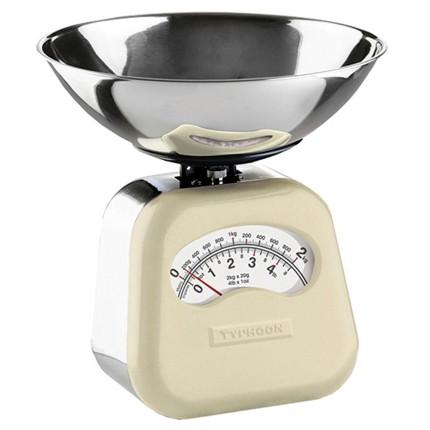 Balança de Cozinha Typhoon Vintage Creme 2kg Mecânica