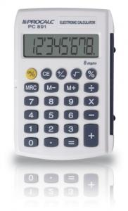 Calculadora Pessoal Com Capa Branca Pc891 Procalc