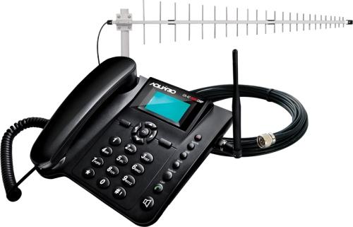 Telefone Com Fio Aquário Celular de Mesa Ca4201 Com Id Preto