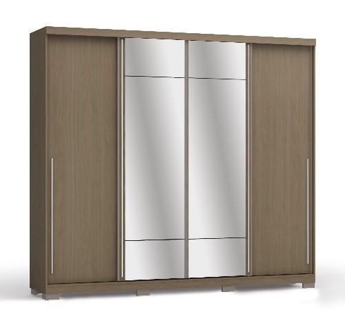 Guarda-roupas Kappesberg Com 4 Portas de Correr 6 Gavetas Com Espelho - D558