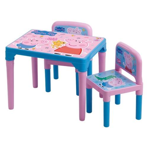 Mesa Infaltil de Atividades Com 02 Cadeiras da Peppa Multibrink