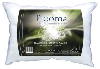 Travesseiro Plooma Pluma de Ganso 100% Algodão 50x70cm