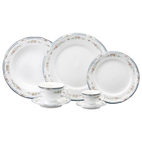 Aparelho de Jantar e Chá Luíza 30 Peças - Schmidt