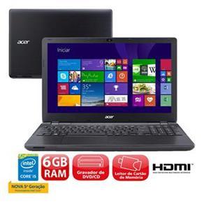 Notebook Acer E5-571-598p Notebook I5-5200u 2.20ghz 6gb 1tb Intel Hd Graphics Windows 8 15,6