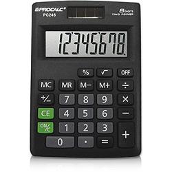 Calculadora de Mesa 8 Dígitos Compacta Pc246 Procalc