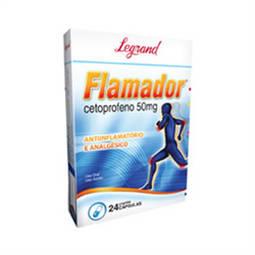 Flamador 50mg Cx 24 Cap - Cetoprofeno - Legrand