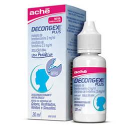 Decongex Plus 2 + 2,5mg Sol Fr Gts 20ml - Maleato de Bronfeniramina + Cloridrato de Fenilefrina - Ache