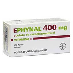 Ephynal 400mg Cx 30 Cap - Acetato de Tocoferol - Bayer