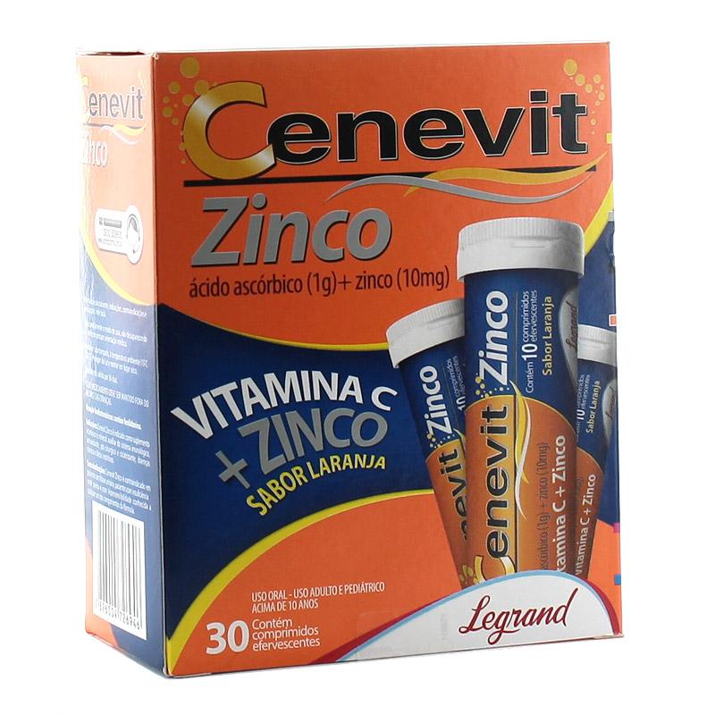 Cenevit Zinco 1g + 10mg Tb 30 Comp Efv - Acido Ascorbico + Zinco - Legrand