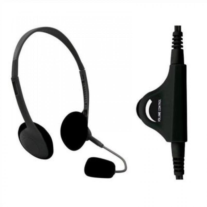 Fone de Ouvido Headset Com Controle Preto Clone 11179