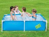 Piscina Retangular Bestway Frame Pool Azul 56218 800l