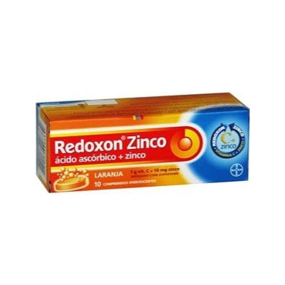 Redoxon Zinco 1g Cx 10 Comp Efv - Acido Ascorbico + Zinco - Bayer