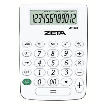 Calculadora de Mesa 12 Dígitos Branca Zt392 Zeta