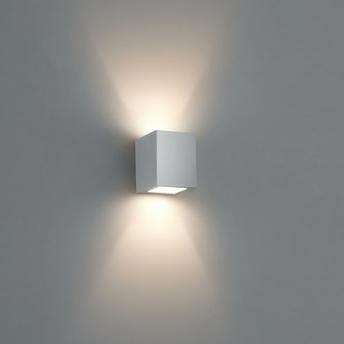 Arandela Bella Luce Externa Facho Duplo C/ Vidro Branca - Bl8066
