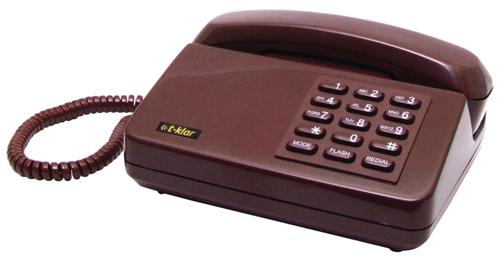 Telefone Com Fio T-klar Padrão Sem Id Vinho - Com Chave