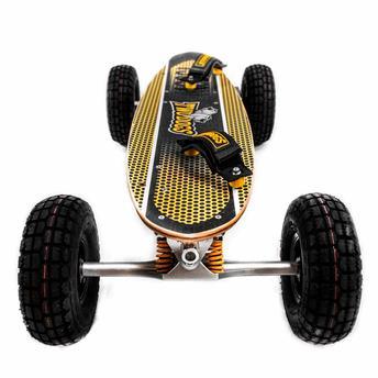Skate Carveboard - Off Road 1300w Preto/amarelo Two Dogs