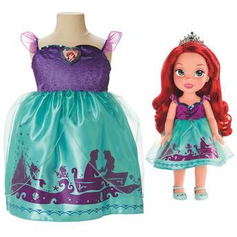 Boneca Princesas da Disney Mimo Brinquedos Minha Primeira Princesa Ariel Com Fantasia 6369