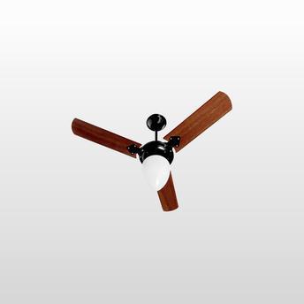 Ventilador de Teto 3 Pás Tron Pera New Madeira/preto 98cm - 110v
