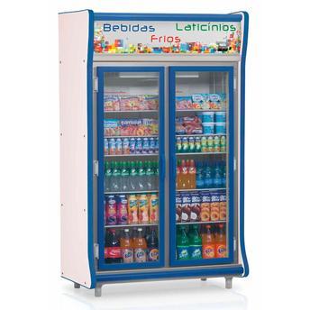 Geladeira/refrigerador 922 Litros 2 Portas Azul - Gelopar - 110v - Gevp-2p