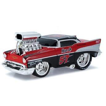 Carrinho Chevrolet Bel Air 1957 Muscle Machines 1:24 Vermelho Maisto
