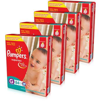 Fraldas Supersec G - 336 Unidades Pampers