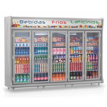 Geladeira/refrigerador 2212 Litros 5 Portas Cinza - Gelopar - 110v - Gevt-5p