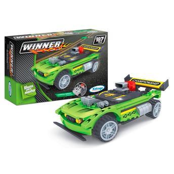Carro de Controle Remoto Movido a Bateria Blocos Winner Verde Xalingo