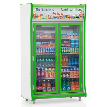 Geladeira/refrigerador 922 Litros 2 Portas Verde - Gelopar - 110v - Gevp-2p