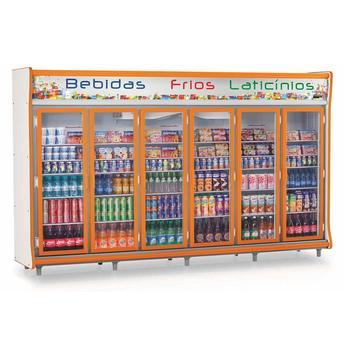 Geladeira/refrigerador 2642 Litros 6 Portas Laranja - Gelopar - 110v - Gevp-6p